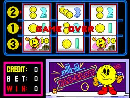 Game Over Screen for Pac-Slot.