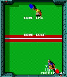 Game Over Screen for Paddle Mania.