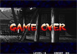 Game Over Screen for Pae Wang Jeon Seol / Legend of a Warrior.