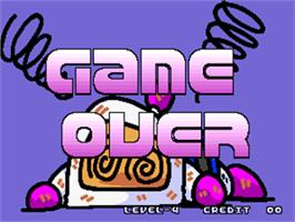 Game Over Screen for Panic Bomber.