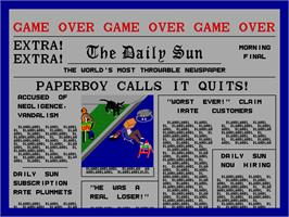 Game Over Screen for Paperboy.