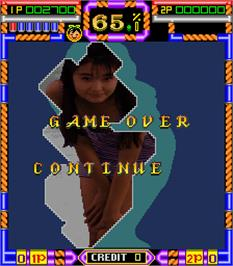 Game Over Screen for Paradise 2 Deluxe.