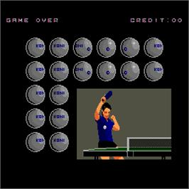 Game Over Screen for Ping Pong Masters '93.