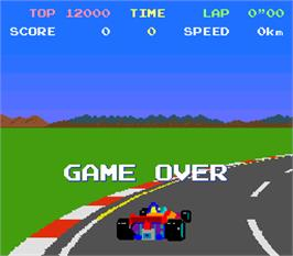 Game Over Screen for Pole Position.