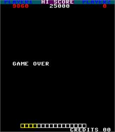 Game Over Screen for Power Surge.