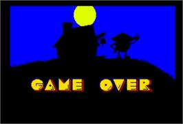 Game Over Screen for Professor Pac-Man.