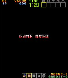 Game Over Screen for Psychic 5.