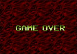 Game Over Screen for Puckman Pockimon.