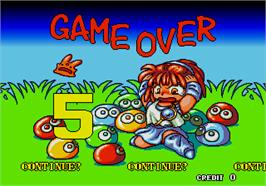 Game Over Screen for Puyo Puyo.