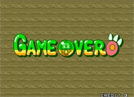 Game Over Screen for Puzzle Bobble 2X.