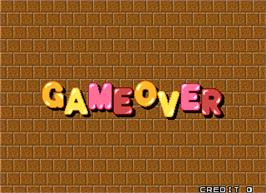 Game Over Screen for Puzzle Bobble 4.