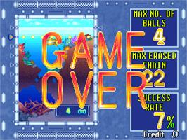 Game Over Screen for Puzzle Uo Poko.
