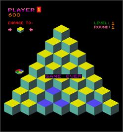 Game Over Screen for Q*bert.