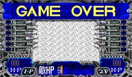 Game Over Screen for Quiz DNA no Hanran.