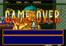 Game Over Screen for Quiz Daisousa Sen - The Last Count Down.