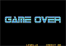 Game Over Screen for Quiz King of Fighters.