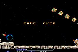 Game Over Screen for R-Type.