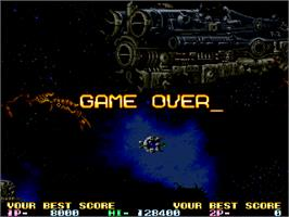 Game Over Screen for R-Type Leo.