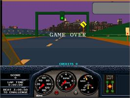 Game Over Screen for Race Drivin'.