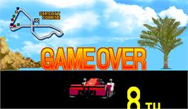 Game Over Screen for Racin' Force.