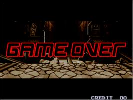Game Over Screen for Rage of the Dragons.