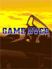 Game Over Screen for Raiden Fighters Jet.