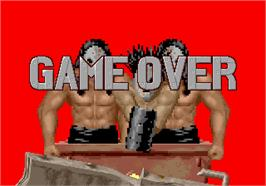 Game Over Screen for Rail Chase.