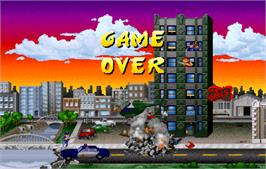 Game Over Screen for Rampage: World Tour.