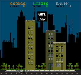 Game Over Screen for Rampage.