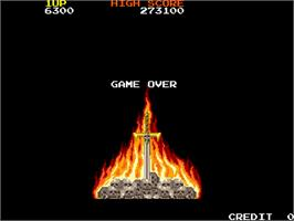 Game Over Screen for Rastan Saga.