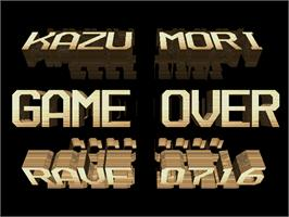Game Over Screen for Rave Racer.