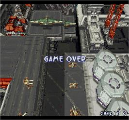 Game Over Screen for Ray Storm.