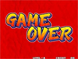 Game Over Screen for Real Bout Fatal Fury / Real Bout Garou Densetsu.