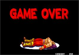 Game Over Screen for Real Bout Fatal Fury 2 - The Newcomers.