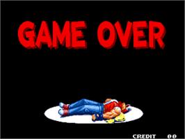 Game Over Screen for Real Bout Fatal Fury 2 - The Newcomers / Real Bout Garou Densetsu 2 - the newcomers.