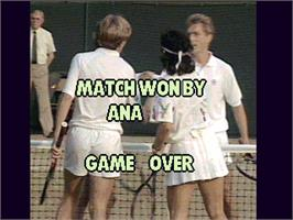 Game Over Screen for Reality Tennis.