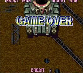 Game Over Screen for Red Hawk.