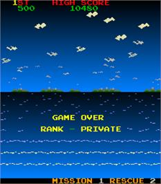 Game Over Screen for Rescue.