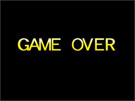 Game Over Screen for Ridge Racer.
