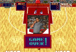 Game Over Screen for Rim Rockin' Basketball.