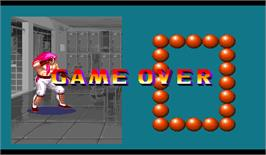 Game Over Screen for Ring of Destruction: Slammasters II.