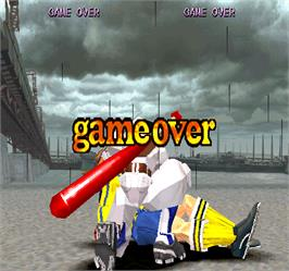 Game Over Screen for Rival Schools.