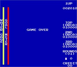 Game Over Screen for River Patrol.