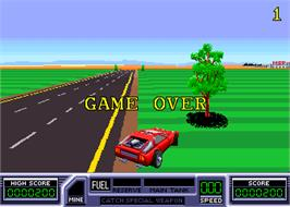 Game Over Screen for Road Blasters.