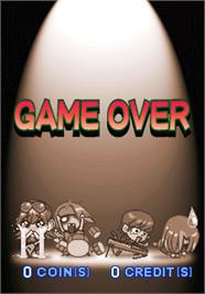 Game Over Screen for Rock'n Tread.