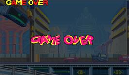 Game Over Screen for Rockman: The Power Battle.