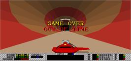 Game Over Screen for S.T.U.N. Runner.