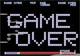 Game Over Screen for SDI - Strategic Defense Initiative.