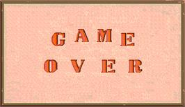 Game Over Screen for Saboten Bombers.