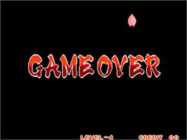 Game Over Screen for Samurai Shodown / Samurai Spirits.